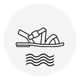 22-es méretű lány strandcipő