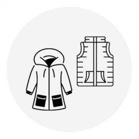 Lány kabát és mellény - átmeneti