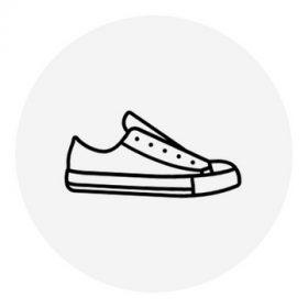 20-as méretű lány vászon cipő