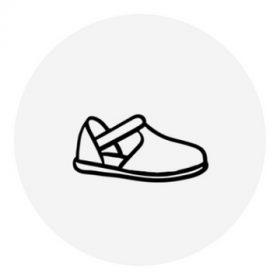 27-es méretű lány nyitott cipő