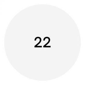 22-es méretű cipő