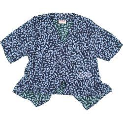 Kékvirágos sifon felső (110)