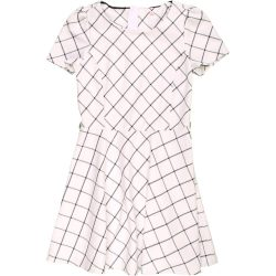 Kockás törtfehér ruha (152)