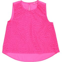 Csipkés pink felső (128)