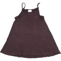 Bordázott fekete ruha (98)