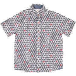 Bordó-kékmintás ing (116)