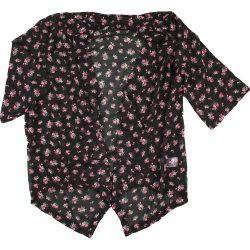 Virágos fekete sifon felső (146)
