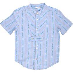 Hímzett kék ing (116)
