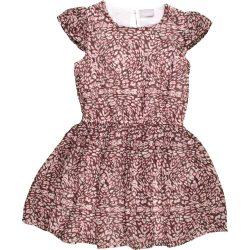 Mintás barna sifon ruha (140)