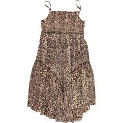 Mintás drapp ruha (146)