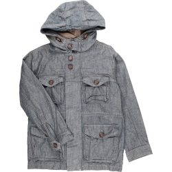Zsebes szürke kabát (140)