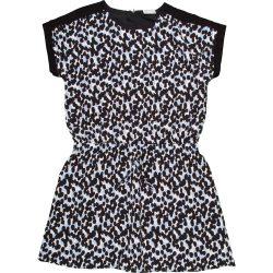 Fekete-kékmintás ruha (134)