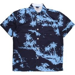 Pálmafás kék ing (128-134)