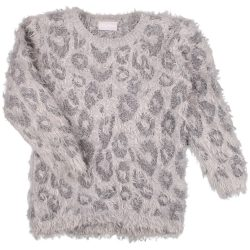 Mintás szőrös pulóver (110)