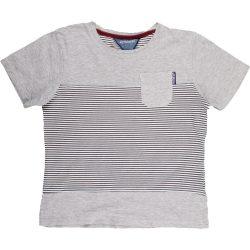 Csíkos szürke póló (140)