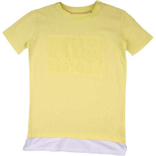 Feliratos sárga póló (128)