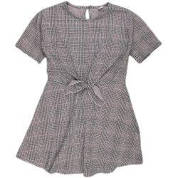 Mintás szürke ruha (140)