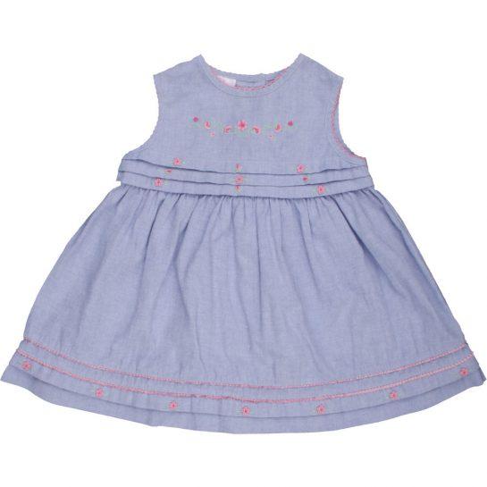 Hímzett kék ruha (62-68)