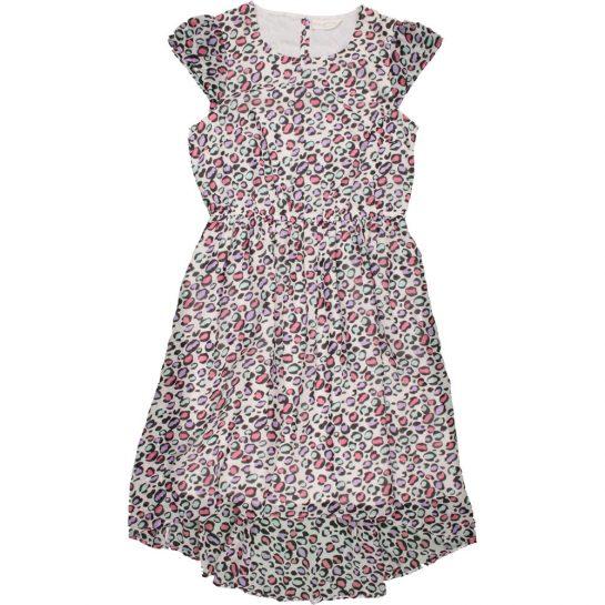 Színesmintás sifon ruha (152)