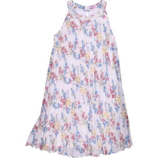 Kékvirágos sifon ruha (140)