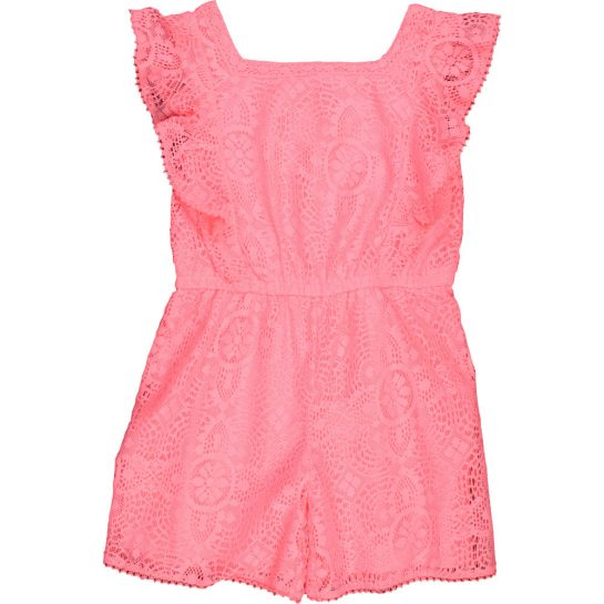 Pink csipke playsuit (128)