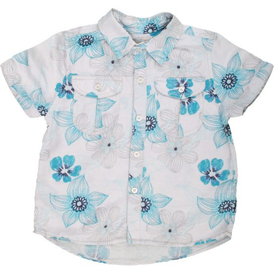 Virágos vászon ing (110)