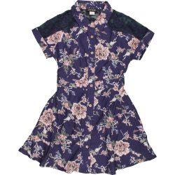 Virágos kék ruha (98)