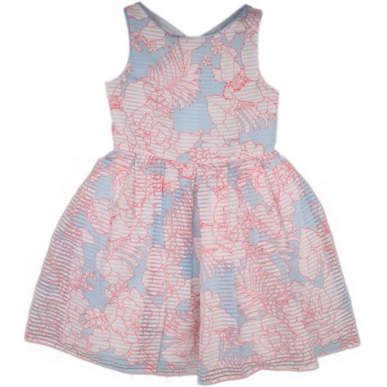 Virágos-csíkos ruha (116)
