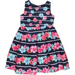 Virágos-csíkos taft ruha (116)