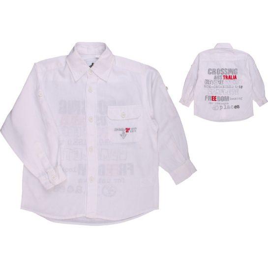 Feliratos vászon ing (110)