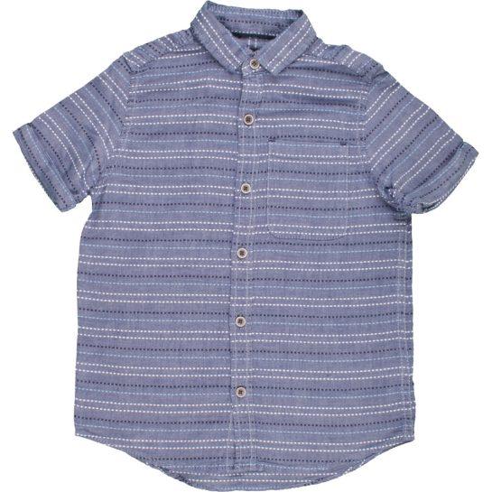 Hímzett kék ing (110)