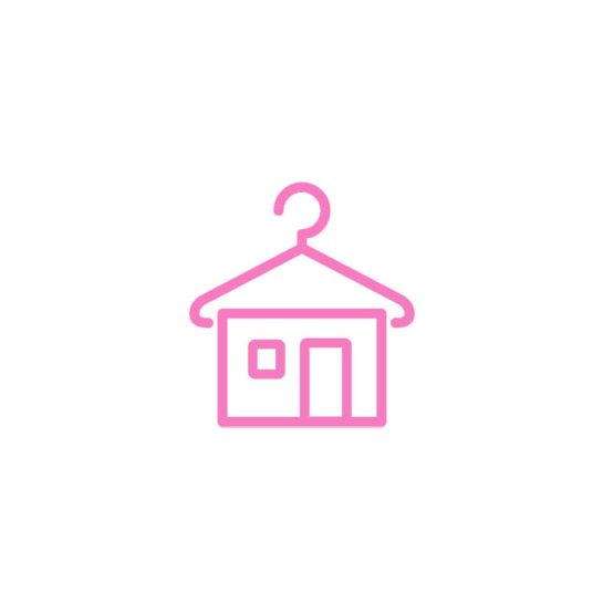 Pinkmintás sifon ruha (140)