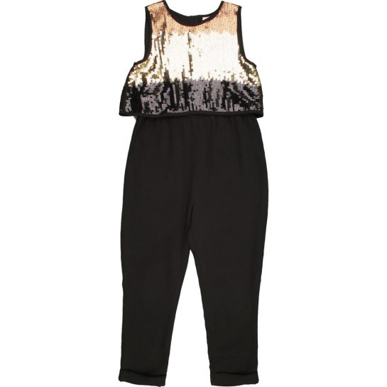 Flitteres fekete jumpsuit (116)