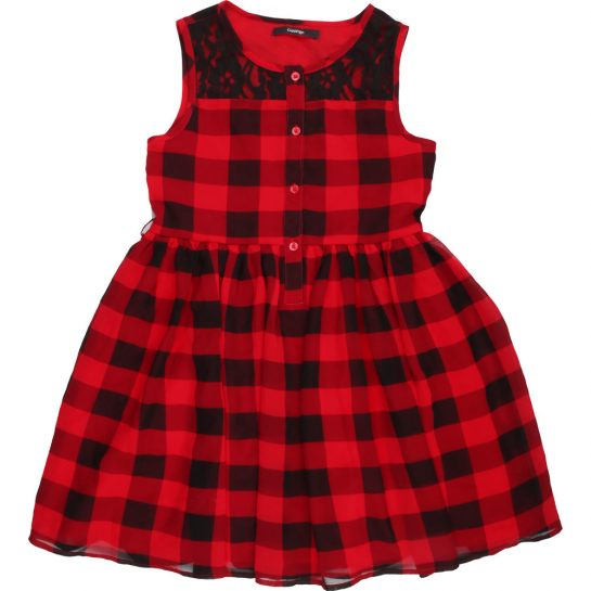 Kockás sifon ruha (134)