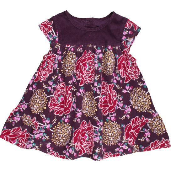 Virágos mikrokord ruha (74)