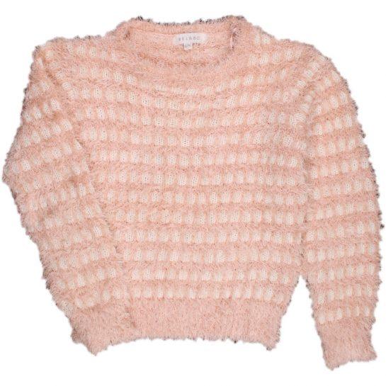 Mintás-szőrös pulóver (128)