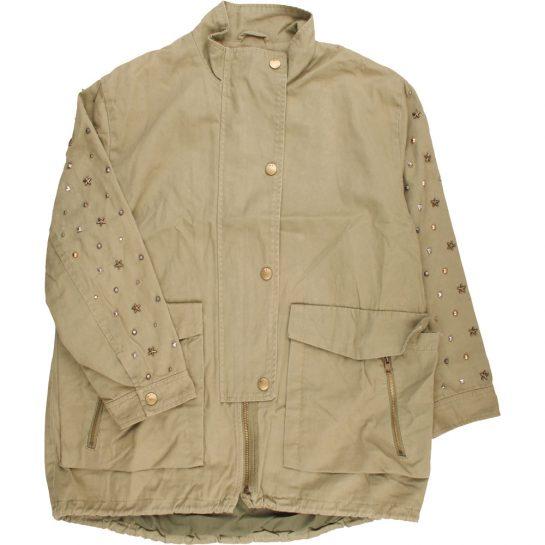 Szegecses kheki kabát  (152)