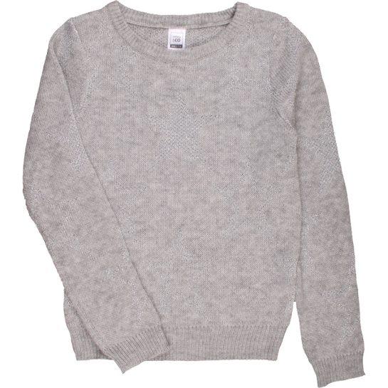 Szürke-ezüst pulóver (140)