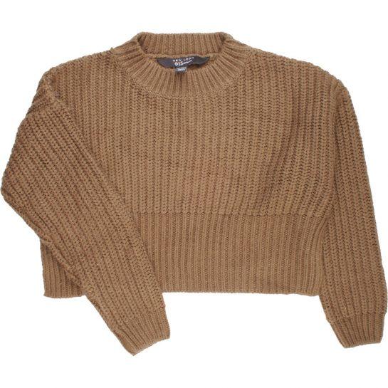 Kheki kötött pulóver (146-152)