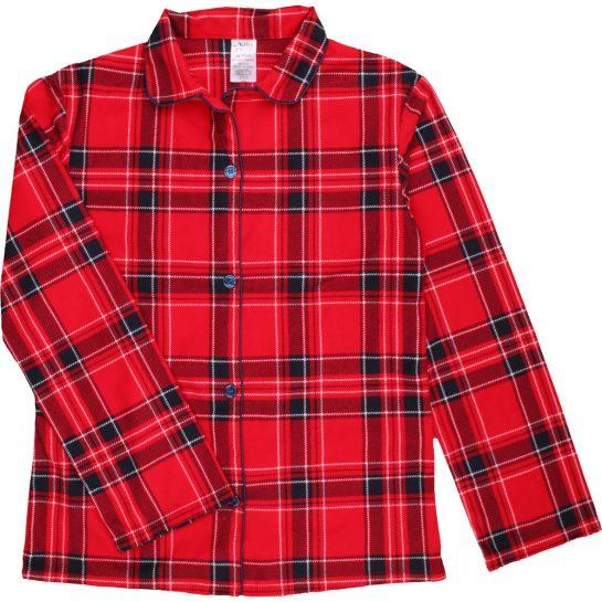 Kockás flanel pizsamafelső (140-146)
