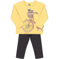 Biciklis sárga-grafit szett