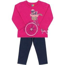 Biciklis pink-kék szett