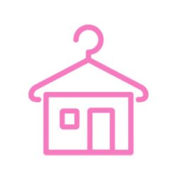 Pink-lilacsíkos ruha