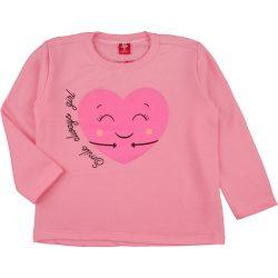 Szíves rózsaszín felső