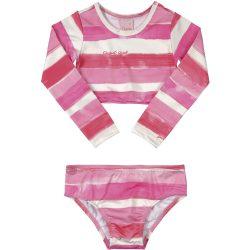 Pink-fehércsíkos bikini