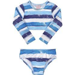 Kék-fehércsíkos bikini