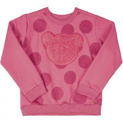 Macis-pöttyös rózsaszín pulóver