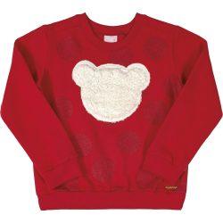 Macis-pöttyös piros pulóver