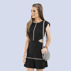 Szürkepasszés fekete ruha