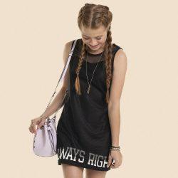 Feliratos fekete 2:1 ruha